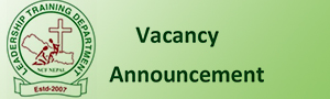 Vacancy at Leadership Training Department